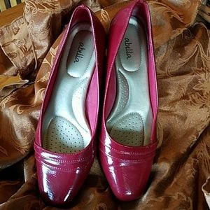 Red Abella shoes size 8